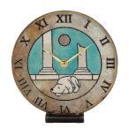 置き時計 ザッカレラZ144A 卓上 イタリア 陶器 楽焼 アンティーク レトロ モダン アート 置時計 おしゃれ リズム時計 手作り