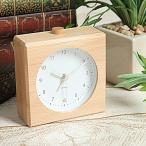 置き時計 目覚まし時計 KATOMOKU km-22 置時計 おしゃれ 連続秒針 木製 デザイン 静音 ナチュラル