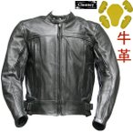 【Clooney】 J03 本革 ライダース カウハイド レザージャケット(牛革)メンズ 革ジャン