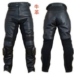 【Clooney】 P03 本革 カウハイド レザーパンツ(牛革) ブーツイン バンクセンサー付 メンズ 革パンツ