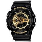 CASIO G-SHOCK Black × Gold Series GA-110GB-1AJF プレゼント付き 耐磁時計 ワールドタイム 腕時計 メンズ 国内正規品