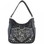 送料無料 ジャスティン西馬刺繍をちりばめた門前キャリー ハンドバッグ財布をマッチング 正規輸入品