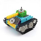 カーズ Remote Control Building Kit RC DIY Electric Tank Kids Toy Set 145PCS 正規輸入品