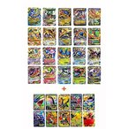 ポケモン Ex 20 カード ゴールド シリーズすべてメガ: 青いドラゴン/レッド ・ ドラゴン、レックウザ、ゲンガー、ルカリオすべてメガ EX (10 特別な珍しい EX
