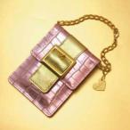 携帯灰皿 カードケース 本革 レザー 日本製 レディース GLOSS CHAIN BAG グロス チェーンバック ペールピンク 箱傷み