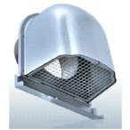 西邦工業【CFN200MS】金網型3メッシュ・下部開閉タイプ・ワイド水切り付外壁用ステンレス製換気口・深型フード