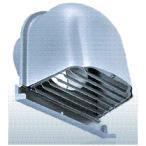 西邦工業【CFX200MS】ガラリ型・下部開閉タイプ・ワイド水切り付外壁用ステンレス製換気口・深型フード