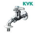 ▽ KVK 水栓 金具【K34BN】吐水口回転形給水栓 ツバ付ワンタッチノズル付