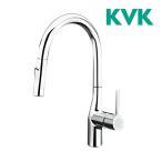 ショッピングKVK KVK 水栓金具【KM6061EC】流し台用シングルレバー式シャワー付混合栓