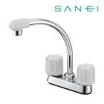 ###π三栄水栓 水栓金具【K71D-LH-13】ツーバルブ台付混合栓