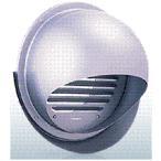西邦工業【SFX200MS】同芯ガラリ型・ワイド水切り付外壁用ステンレス製換気口・セルフード