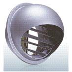 西邦工業【SFXD150ZS】同芯ガラリ型・防火ダンパー付外壁用ステンレス製換気口・セルフード