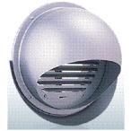 西邦工業【SFXD200MS】同芯ガラリ型・ワイド水切り付・防火ダンパー付外壁用ステンレス製換気口・セルフード