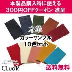 革 カラーサンプル 色見本 10色セット 本革 レザー 端切れ CLuaR シールアル