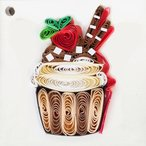 Quilling Card(クイリングカード) タグカード Chocolate Cup Cake チョコレートカップケーキ