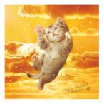 村松誠 ビッグコミックオリジナル2015年12月5日号「夕焼けと猫 」 マイクロファイバーハンドタオル(ホワイト)