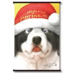 村松誠 ビッグコミックオリジナル2015年12月20日号「サンタ帽の犬 」タペストリー(ホワイト)