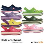 ショッピングcrocband crocs kids【クロックスキッズ】Kids Crocband/キッズクロックバンド ケイマン サンダル ビーサン