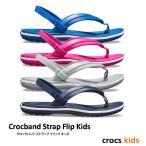 クロックス キッズ / クロックバンド ストラップ フリップ キッズ / crocs kids Crocband Strap Flip Kids ※※ ケイマン サンダル ビーサン