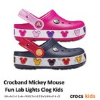 クロックス キッズ /  クロックバンド ミッキーマウス ファンラブ ライツ クロッグ キッズ / crocs Crocband Mickey Mouse Fun Lab Lights Clog Kids ※※