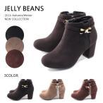 JELLYBEANSジェリービーンズブーツリボンが可愛い☆ガーリーショートブーツ痛くない履きやすいjb415