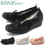 KISSA SPORT  キサスポーツ  パンプス  リボンウェッジパンプス ks8140 送料無料