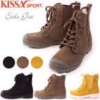 KISSA SPORT キサスポーツ サイドゴアブーツ  サイドゴアレースアップカジュアルショートブーツ ks8840
