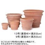 植木鉢 鉢 鉢カバー おしゃれ 大型 テラコッタ 鉢植え おしゃれ鉢 大型鉢 /プランター 2個セット 13号:Φ40×32cm 9号:Φ28×22cm