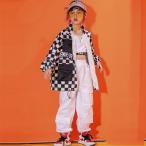 キッズダンス衣装 ヒップホップ 2点セットアップ HIPHOP 長袖 シャン 花柄 パンツ ズボン 男の子 女の子 子供服 ジャズダンス ステージ衣装 パーカー