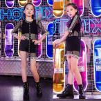 【3点セット】ダンスウェア キッズ ダンス衣装 キッズ ジュニア ジャズダンス衣装  ヒップホップ HIPHOP  パンツ 女の子 JAZZ 練習着