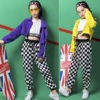 子供 ダンス 衣装 ヒップホップ ダンストップス HIPHOP キッズ ジャケット タンクトップ セットアップ ステージ衣装 ジャズダンス ウエア 子供服 スポーツ