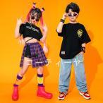 キッズダンス衣装 HIPHOP 韓国 女の子 男の子 ヒップホップ 子供服 チアガール ジャズダンスステージ衣装 練習着 ダンスウェア 発表会 jazz 応援団 Tシャツ