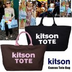 ショッピングキットソン 送料無料!KITSON★キットソン★Large Canvas Tote Bag ★ラージキャンバストートバッグ