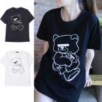 アンダーカバー Tシャツ レディース NEU BEAR 目隠しベアー 半袖 ブランド UNDERCOVER 新品  ホワイト  ブラック  ネイビー