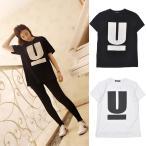 UNDERCOVER (アンダーカバー) Tシャツ ワンポイント U Tシャツ 男女兼用 オシャレ ブラック ホワイト