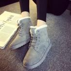 2月末順次発送!ムートンブーティー スノーシューズ レディース ブーツ ブーティショートブーツ 靴 雪靴 防寒 綿靴 通学 靴ひも