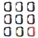 Apple Watch Series 4 40mm 44mm ケース シリコン  マルチカラー シンプルで  ソフトカバー ア