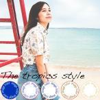 """メール便送料無料!アロハシャツ かりゆしウェア """"The tropics style"""" レディース(女性用) 半袖シャツ 全5色 大きいサイズあり"""
