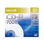 マクセル maxell データ用 CD-R 48倍速対応 インクジェットプリンター対応(ノンワイド) 700MB 20枚 CDR700S.PNW.20S 1C