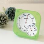 EMPEX エンペックス シュクレmidi温・湿度計 クリアグリーン TM-5603