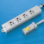 サンワサプライ 工事物件タップ4個口・3m TAP-KH4-3