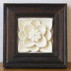石のレリーフ お花1   アジアン バリ 壁掛け 壁飾り 石彫り バリ島 バリ風 バリ雑貨 インテリア ココバリ
