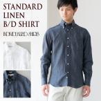 ショッピングINDIVIDUALIZED インディビジュアライズドシャツ リネン ボタンダウンシャツ 米国製 スタンダードフィット