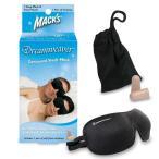 Macks Dream 立体型アイマスク+防音ソフト耳せんセット (ブラック)