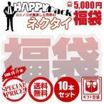 【福袋】ハッピーパック 5,000円ポッキリ ネクタイ10本セット 送料無料 ギフトラッピング対応 ニットネクタイ・ワンタッチネクタイも含めて