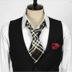 チェック柄・ブラック・ネクタイとスカーフの特徴を合わせた「ネックスカーフ」「ストール」「マフラー」 NTF12