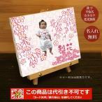 出産祝い 出産内祝い 名入れ 名前入り 命名 メモリアルフォト 写真 バースデーボード フォトフレーム キャンバス 和風 桜 クリスマス