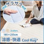 ひんやり ラグ カーペット 夏用 接触冷感 クールラグ 3畳用 三畳用 洗える ウォッシャブル