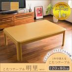 こたつテーブル 長方形 おしゃれ 幅120cm こたつ 炬燵 テーブル単品 120×80 オールシーズン 木製 家族団らん あったか 省エネ メーカー保証