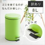 ゴミ箱 8L ダストボックス ごみ箱 ペダル式 手を使わず開けられる スリム コンパクト 洗える 衛生的 取っ手付き ニオイ防止 訳あり